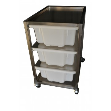 Stainless Steel 3 Bin Rack