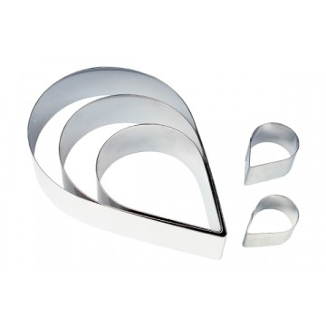 Stainless Steel Tear drop frame - 6""