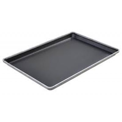 4 sided teflon deep tray - round corners